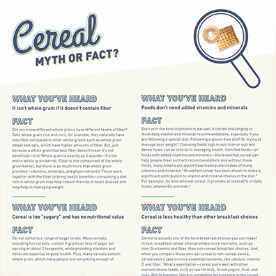 CerealMythOrFact